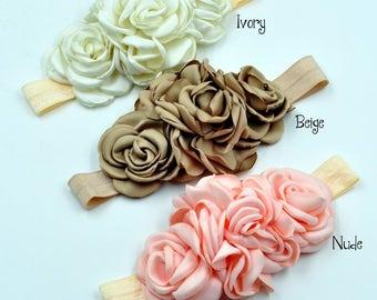 Set of 3 vintage flower headbands