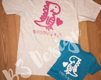 Mommy & Me Set- mommysaurus/boobivore breastfeeding shirt breast is best