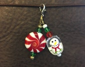 Snowman & Mint Candy Planner Charm