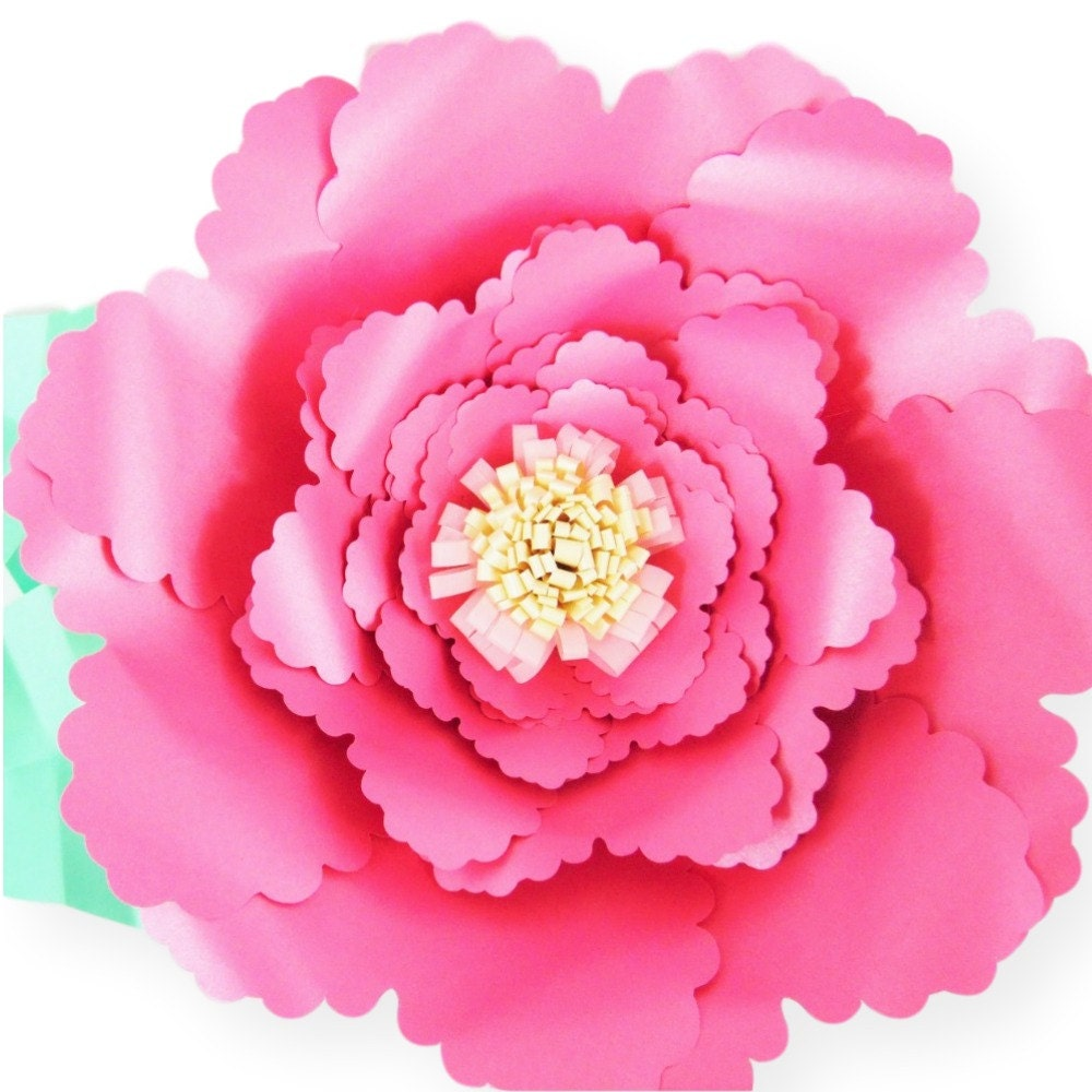 giant paper flower templates  diy paper flowers  svg