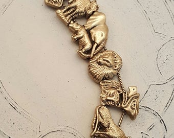 Gold Colored Animal Slide Bracelet