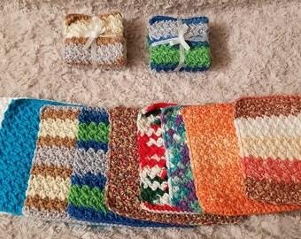 Hand crochet wash clothes