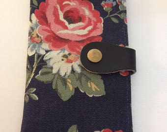 Phone Wallet/Cover Navy Floral