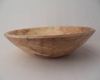 Spalted Elm Wooden Salad Bowl Serving Bowl Hand Turned