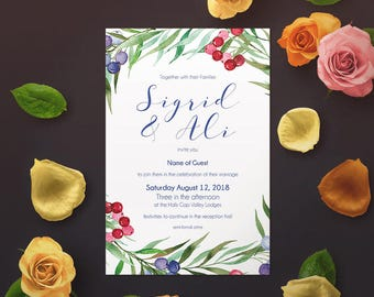 Sigrid Invitation Set - Printable Digital Files