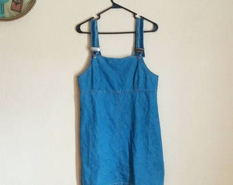 90s Jean Overall Dress