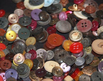craft items bulk mixed lot vintage buttons used buttons small buttons mixed buttons unsorted lot