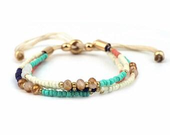 Beads Bracelet // Multistrand Bracelet // String Bracelet // Friendship Bracelet // Knot Bracelet // Beach Bracelet // Minimalist Bracelet