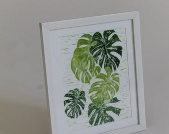 Multi Green Cheese Plant Print