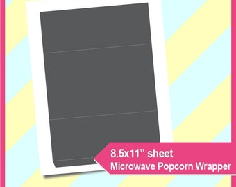 Full size candy bar wrapper template instant download psd and png microwave popcorn wrapper template instant download psd png and svg formats 85x11 printable 060 pronofoot35fo Choice Image