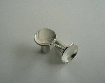 Sterling Silver 6 mm tunnels earplugs (2ga)