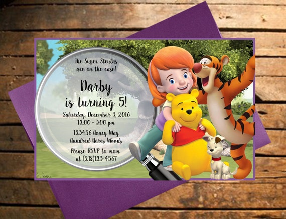 Downloadable My Friends Tigger Pooh Themed Birthday – Tigger Birthday Party Invitations