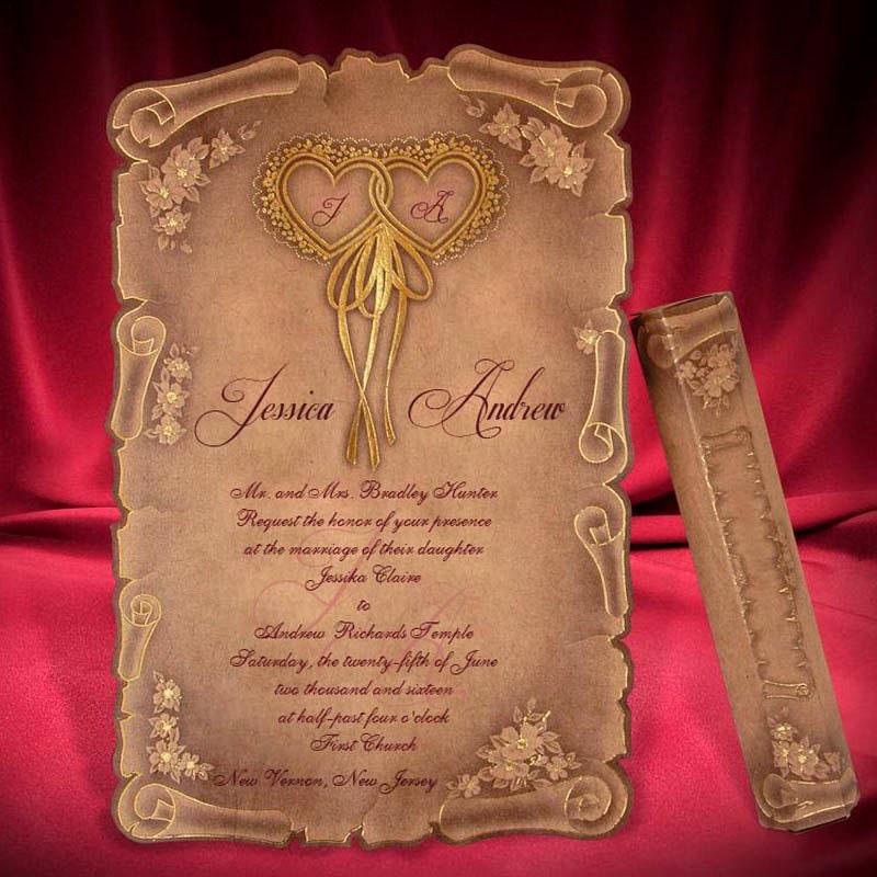 Medieval Wedding Invitations: Scroll Medieval Wedding Invitations Scroll Wedding