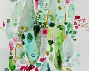 watercolor of colors. Original painting on high quality paper