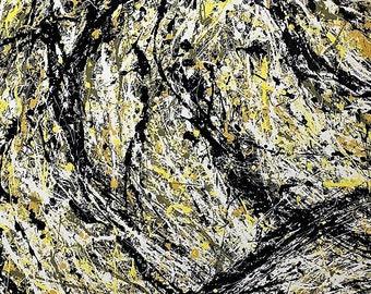 Large Original Painting, Jackson Pollock  Style, Abstract painting, Gift Painting, Acrylic painting on canvas,Handmade art by Sergei Kolesov