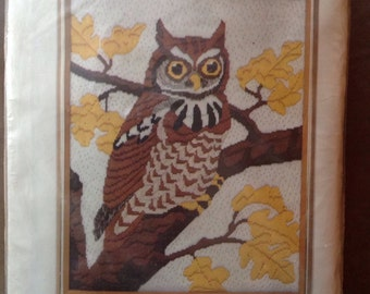 Bernat Tabriz quick stitch screech owl on lockweave canvas