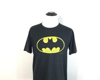 80's vintage batman 50/50 blend t-shirt made in usa size XL