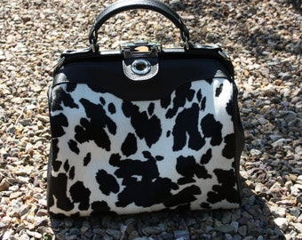 doctor's bag cow print