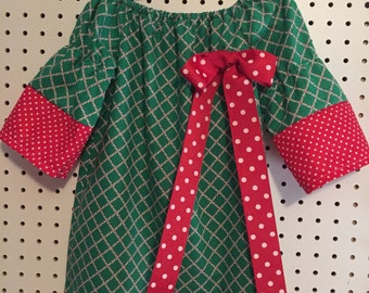 Christmas candy cane checked dress 4T, 5T