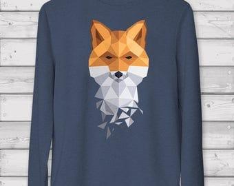 Geometric Print / Fox / Sweatshirt / Sweater