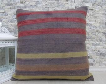 majestic unique kilim pillow kilim rug decorative boho pillow 20 x 20 kilim cushion bohemian pillow home decor wool kilim pillow cover