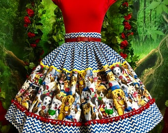 ON SALE Adorable careers puppy pinup skirt