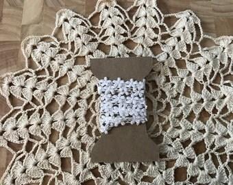 Daisy Crochet Trim