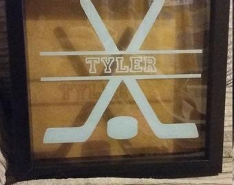 Ice hockey box frame