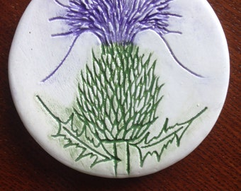 Scottish thistle coasters