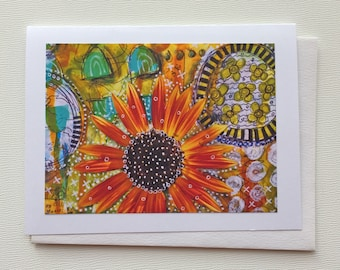 Sunflower Notecard - Notecards Handmade - Handmade Stationery - Notecards - Handmade Cards - Sunflower Card - Note Card - Gift for Her