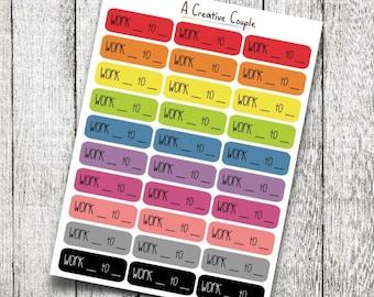 Work Label Planner Stickers