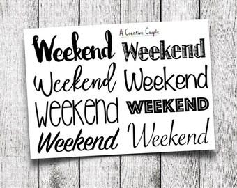 Black Weekend Planner Stickers