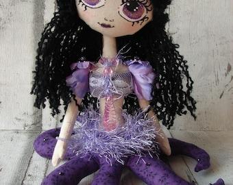 Medusa, rag doll (doll, doll, ooak doll art doll handmade rag)