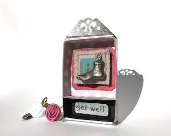Matchbox Art, Matchbox Shrines, Inspirational Art, Religious Art, Milagro Art, Get Well Present, Special Occasion Present