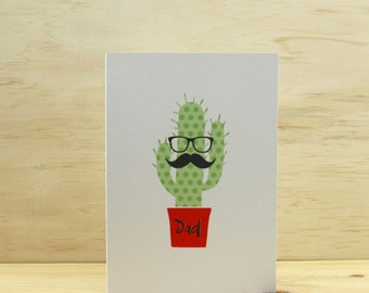 Cactus Dad Birthday or Fathers Day Card