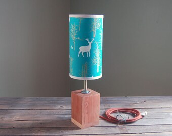BLOC Lamp (Turquoise Forest) - Narrow