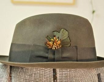 Vintage 1950's/60's KNOX Felt Fedora Hat / Mad Men / Retro Collectable Rare