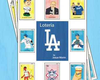 DODGERS Inspired Loteria Folk Art Bingo