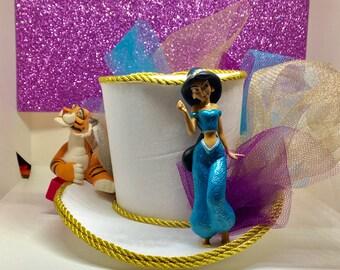 Jasmine inspired  Disney princess themed mini top hat fascinator