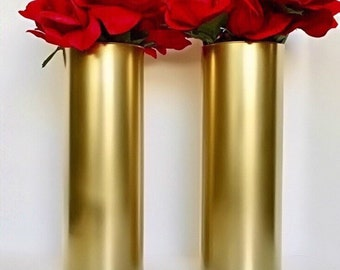 Set Of 10 9 Tall Cylinder Rhinestone Vase Bouquet