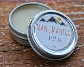 Maple Mantra Lip Balm. Natural Makeup. Maine Made. Yoga.
