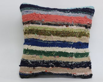 cotton striped pillow 20x20 fllor pillow decorative striped pillow sofa pillow ethnic pillow kilim woven pillow cushion cover SP5050-1151