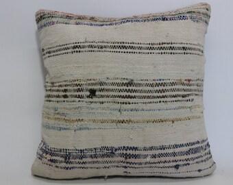Vintage Turkish Kilim Pillow Throw Pillow 20x20 Decorative Kilim Pillow 20x20 Floor Pillow Handwoven Kilim Pillow SP5050-1200