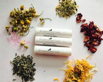 Vanilla Lip Balm; Peppermint Lip Balm, Rosemary Mint Lip Balm, Herbal Lip Balm, Beeswax Lip Balm