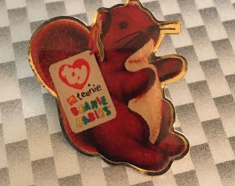 Nuts the Squirrel Beanie Baby Lapel Pin