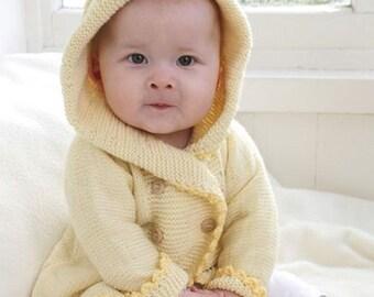 Baby hooded Merino Cardigan