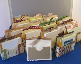 Fourteen (14) Post-it Note holders, with pencil, gift card pocket