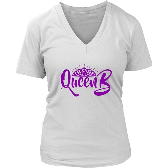 Women's V-neck - Queen B in The Making Purple