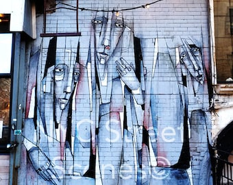 Men in Pieces©  - NYC Graffiti - NYC Street Scenes Photography