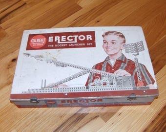 """Vintage Gilber Erector """"The Rocket Launcher Set"""""""